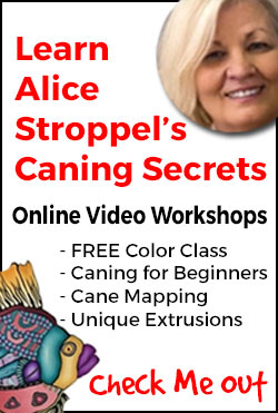 Click to check out Alice Stroppel's online video polymer clay caning workshops