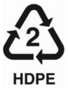 2 HDPE - polymer safe plastic recycling number