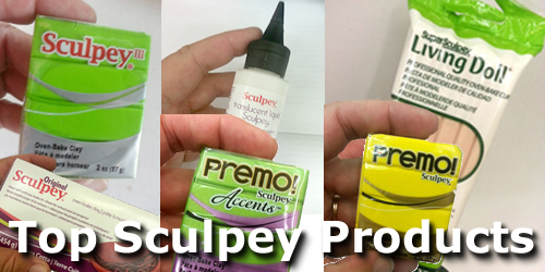 Top Sculpey polymer clay products and baking directions