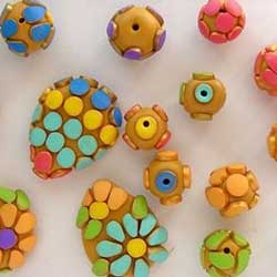 Polymer clay beads picture from The Polymer Clay Artists Guide by Marie Segal